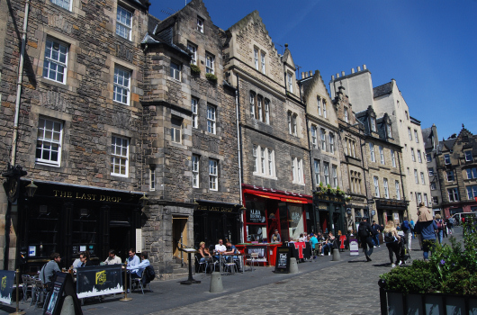 The Grassmarket and West Bow, Edinburgh